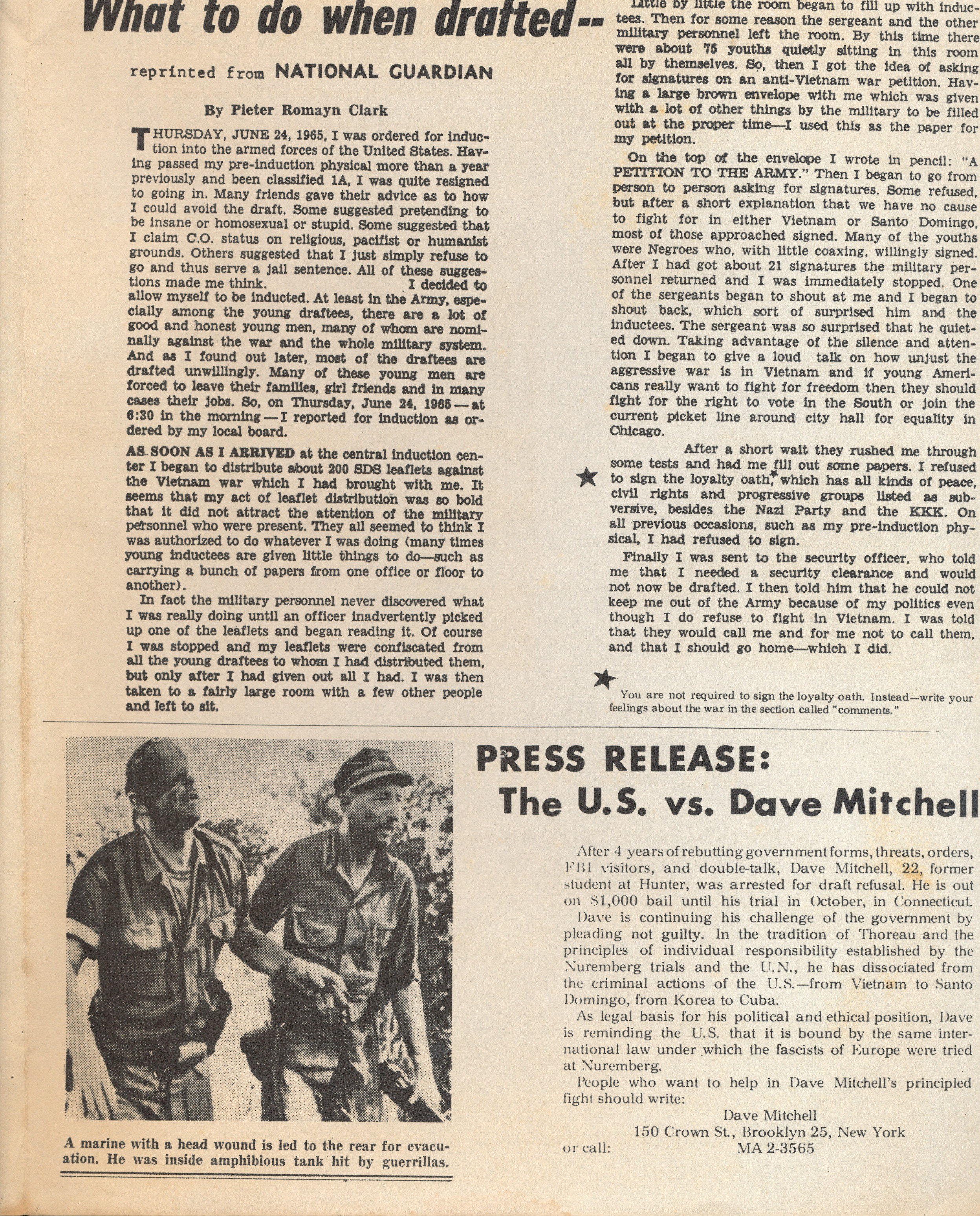 What the War is All About - SDS Leaflet 60s
