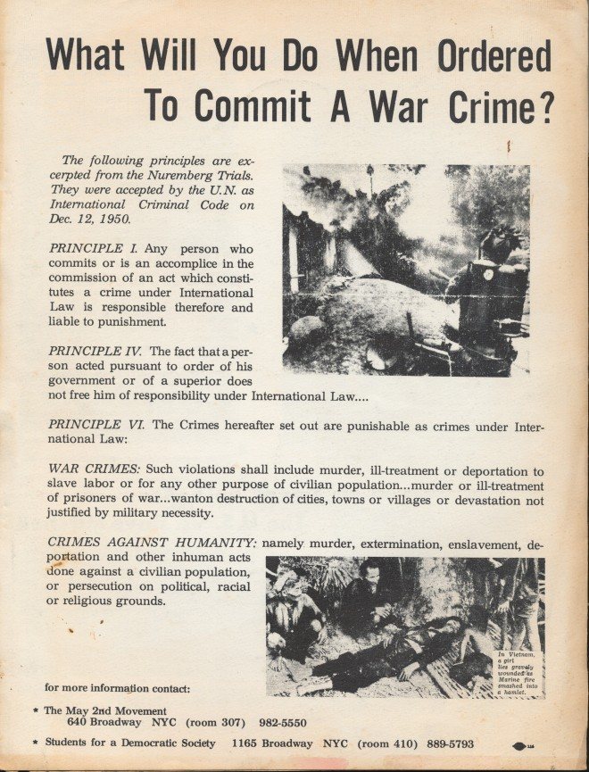 WHAT WILL YOU DO WHEN ORDERED TO COMMIT A WAR CRIME?